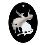 Cowboy and Horse Oval Ornament