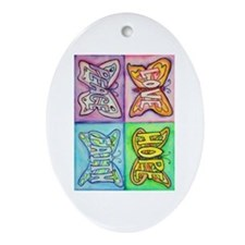 Inspirational Butterfly Word Wings Ornament (Oval)
