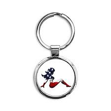 USA Trucker Girl Keychains