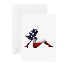 USA Trucker Girl Greeting Cards (Pk of 10)
