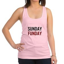 Sunday Funday Black/Red Racerback Tank Top