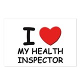 I love health inspectors Postcards (Package of 8)