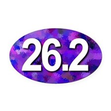 Super Unique 26.2 (purple version) Oval Car Magnet