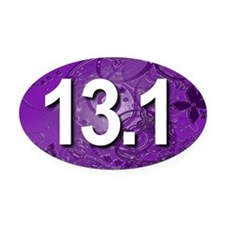 Super Unique 13.1 (purple version) Oval Car Magnet