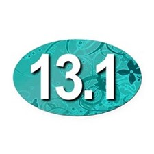 Super Unique 13.1 (teal version) Oval Car Magnet