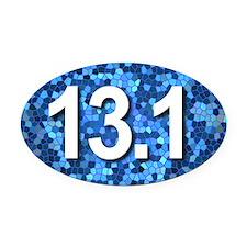 Super Unique 13.1 (blue version) Oval Car Magnet