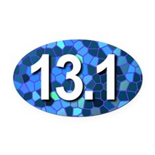 Super Unique 13.1 (blue version) Oval Car Magnet