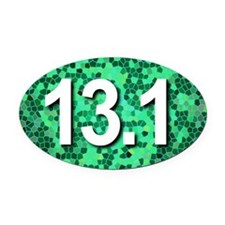 Super Unique 13.1 (green version) Oval Car Magnet