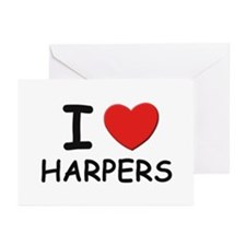 I love harpers Greeting Cards (Pk of 10)