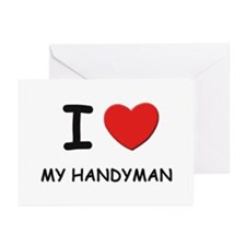 I love handymen Greeting Cards (Pk of 10)