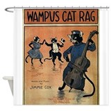 Wampus Cat Rag, Vintage Poster Shower Curtain