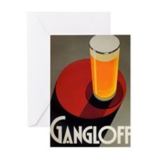 Gangloff, Beer, Vintage Poster Greeting Card
