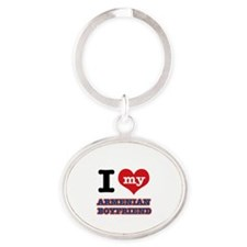 I love my Armenian Boyfriend Oval Keychain