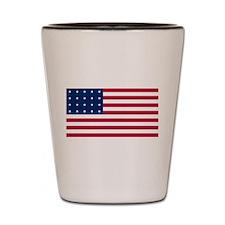 US - 20 Stars Flag Shot Glass