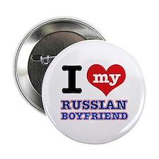 """I love my Russian Boyfriend 2.25"""" Button"""