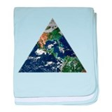 Earth Triangle baby blanket