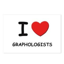 I love graphologists Postcards (Package of 8)