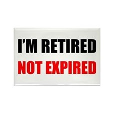Retired Not Expired Rectangle Magnet