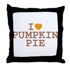 I Heart Pumpkin Pie Throw Pillow