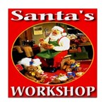 Santa's Workshop Tile Coaster