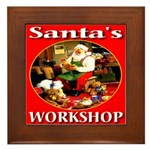 Santa's Workshop Framed Tile