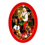 Santa's Workshop Oval Ornament