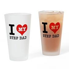 I Love My Step Dad Drinking Glass