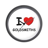I love goldsmiths Wall Clock