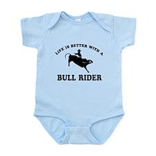 Bull Rider vector designs Infant Bodysuit