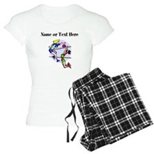 Personalized Girls Volleyball Pajamas
