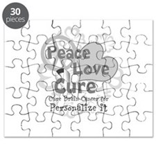 Gray Peace Love Cure Puzzle