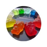 "Rainbow of Gummi Bears 3.5"" Button"