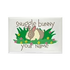 Personalized Snuggle Bunny Rectangle Magnet