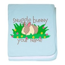 Personalized Snuggle Bunny baby blanket