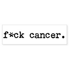 f*ck cancer bumper sticker
