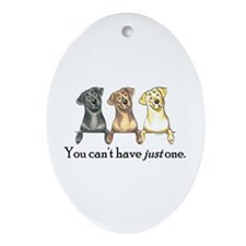 Just One Lab Ornament (Oval)