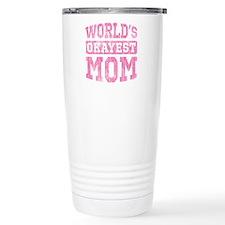 World's Okayest Mom [v. pink] Travel Mug