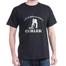 Curler vector designs T-Shirt