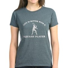 Squash Player vector designs Tee