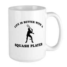 Squash Player vector designs Mug