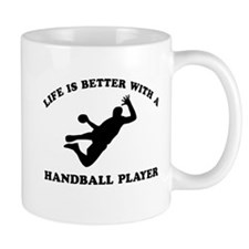 Handball Player vector designs Mug