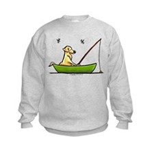 Yellow Lab Fishing Sweatshirt