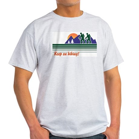 Keep on Hiking Ash Grey T-Shirt