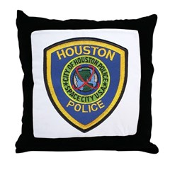 Houston Police Throw Pillow