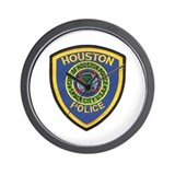 Houston Police Wall Clock