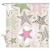 Fun Stars Pattern Shower Curtain