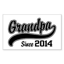 Grandpa Since 2014 Decal