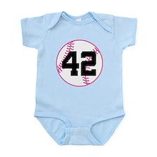 Softball Player Number 42 Infant Bodysuit