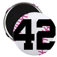 Softball Player Number 42 Magnet