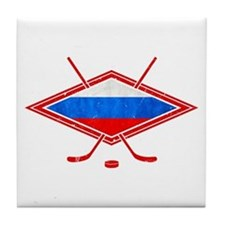 Russian Ice Hockey Flag Tile Coaster
